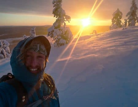 Rick werkt in de winter in het prachtige Lapland
