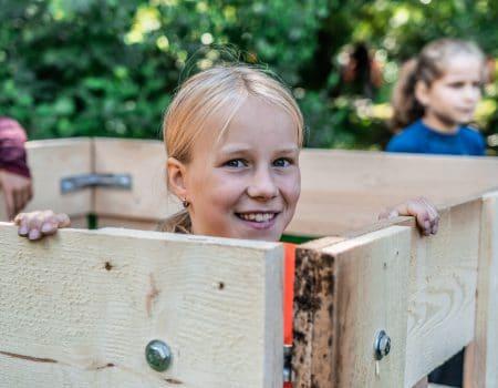 Kinderfeestje Huttenbouwen